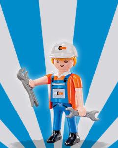 Playmobil Figures Series 5 Boys - Plumber