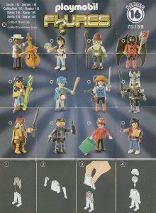 Playmobil Figures Series 16 Boys List Checklist Collector Guide Insert