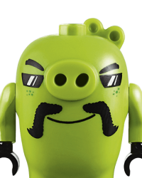 Lego Angry Birds Characters - Biker Pig