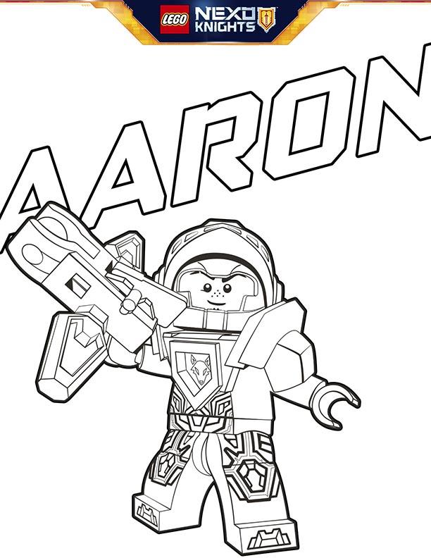 Lego Nexo Knights Coloring Sheet Page No Shield Aaron Kids Time