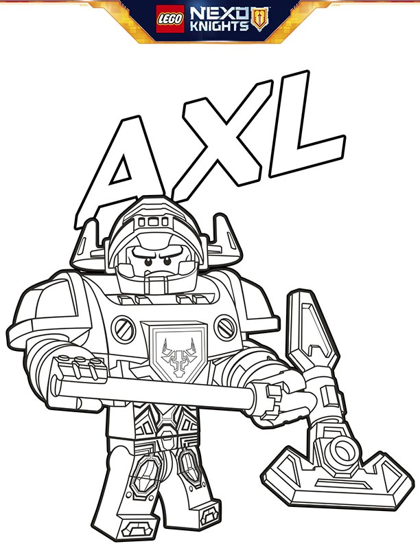 - Lego-nexo-knights-coloring-sheet-page-no-shield-axl – Kids Time