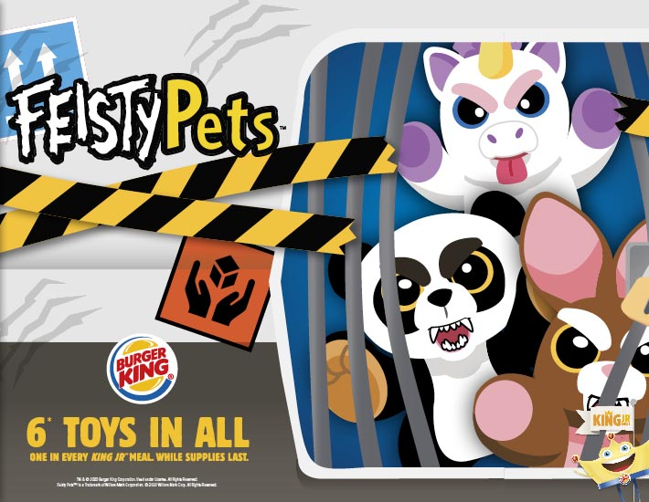 Burger King Jr Meal Toys February 2020 Feisty Pets Kids Time