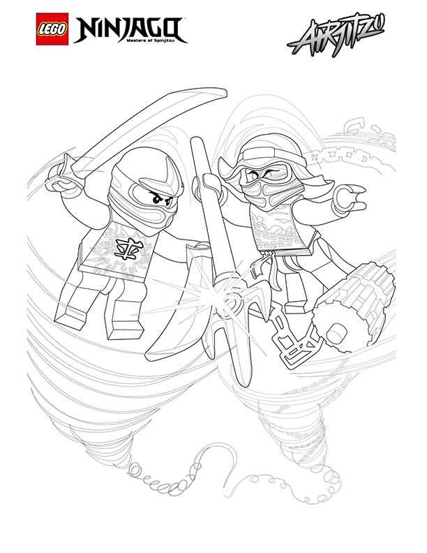 Lego Ninjago Coloring Sheet Pages Airjitzu Coloring Page 06 Kids Time