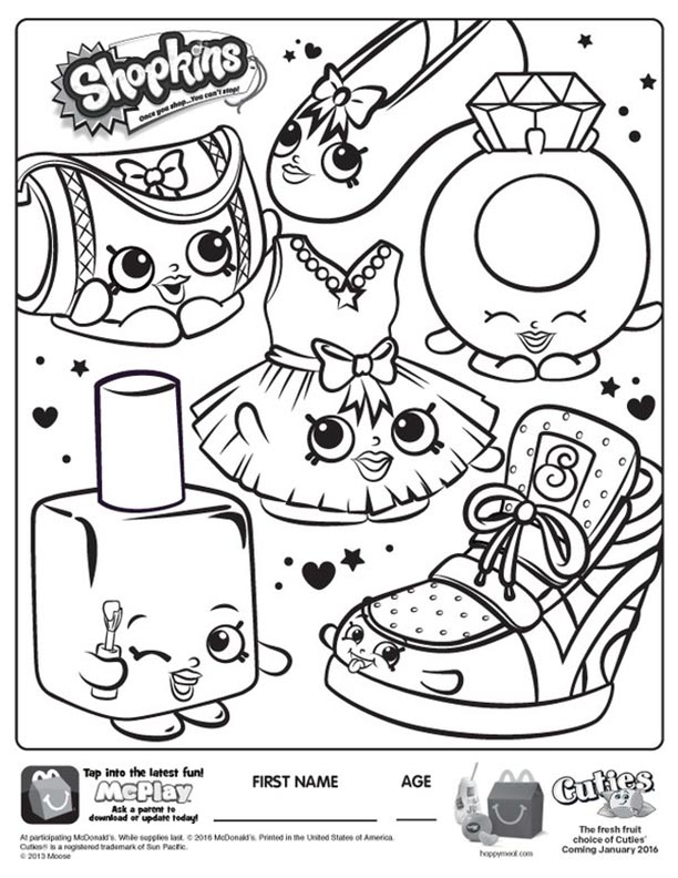 - McDonalds Happy Meal Coloring And Activities Sheet – Shopkins – Kids Time