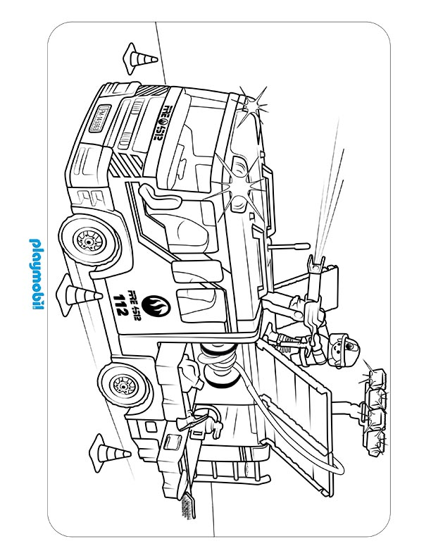 playmobil police coloring page coloring pages