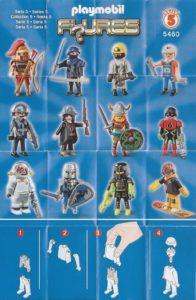 Playmobil Figures Series 5 Boys List Checklist Collector Guide Insert