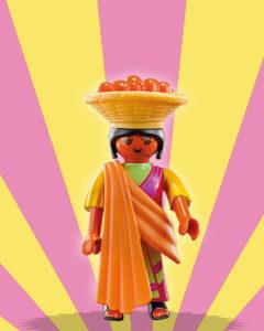 Playmobil Figures Series 5 Girls - Indian with Fruit Bowl