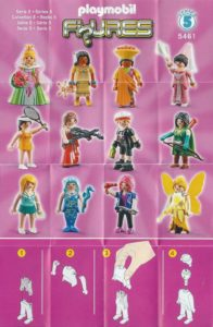 Playmobil Figures Series 5 Girls List Checklist Collector Guide Insert